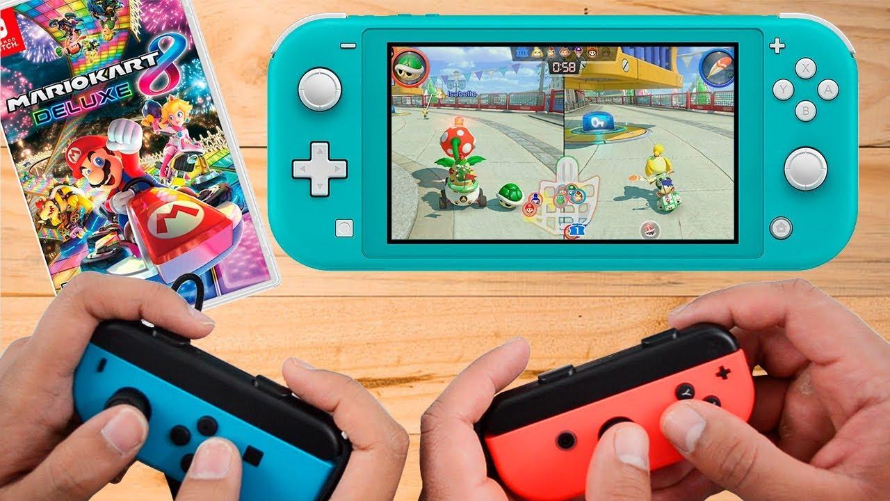 Mario Kart 8 Deluxe Nintendo Switch Lite Gameplay