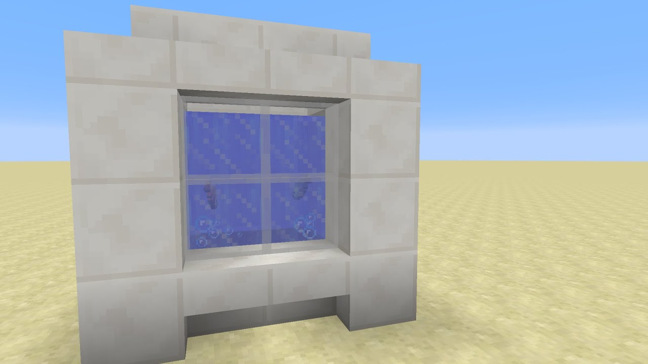 how to make a fish tank in minecraft ps4