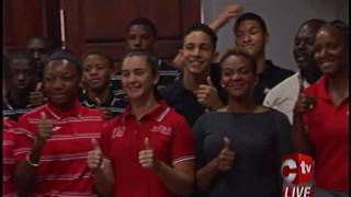 Commonwealth Youth Athletes Get Advice From Jehue   Respect But Don't Fear Your Opponents