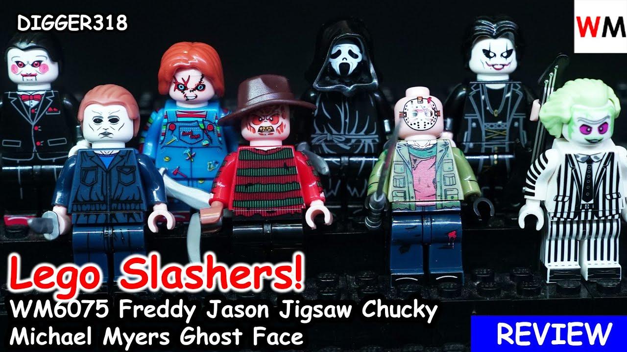 USA seller Custom Minifigure set-JASON-FREDDY-Michael Myers-CHUCKY-IT Horror