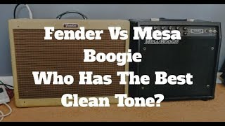 Fender Vs Mesa Boogie Valve Amps - Who Has The Best Clean Tone?