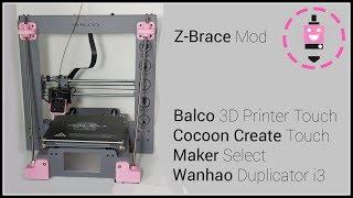Z-هدفين وزارة الدفاع | بالكو/شرنقة إنشاء طابعة 3D تعمل باللمس ، Wanhao الناسخ i3 بالإضافة صانع حدد