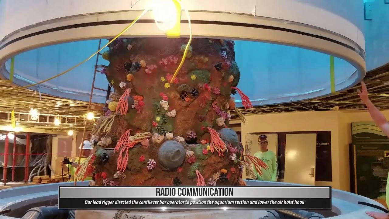 Case Study of TNT Lifting New Aquarium at Moody Gardens - YouTube