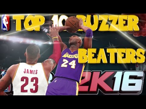 NBA 2K16 1st OFFICIAL TOP 10 BUZZER BEATERS Of The Week!