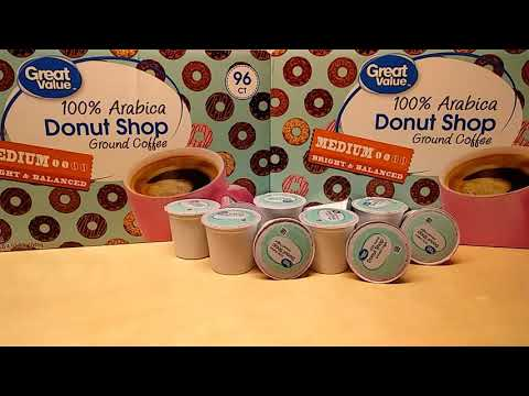 Great Value Donut Shop Coffee K-Cup 96 count ct