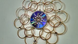 Wall Hanging made out bangles (Best out of waste)