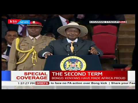 Download Youtube: Ugandan President, Yoweri Museveni's remarks during Uhuru's inauguration ceremony