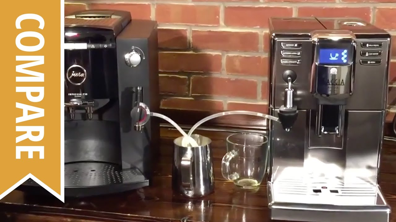 compare gaggia anima deluxe and jura impressa f50 classic youtube. Black Bedroom Furniture Sets. Home Design Ideas