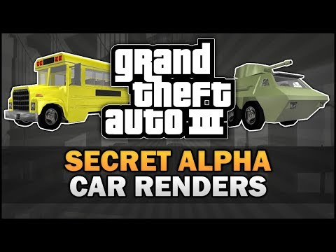 GTA 3 - Secret Alpha Car Renders [Beta Analysis] - Feat. MattJ155