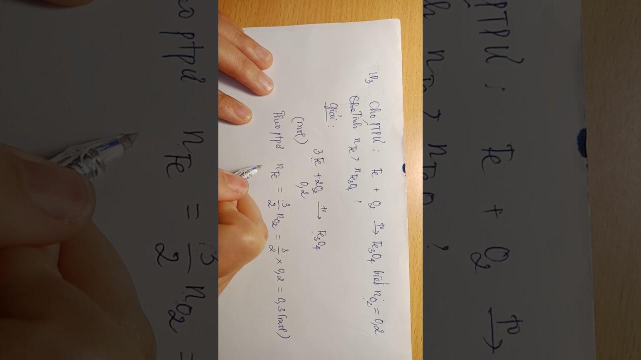 Video 2: Tính số mol theo phương trình hóa học ( tiếp)
