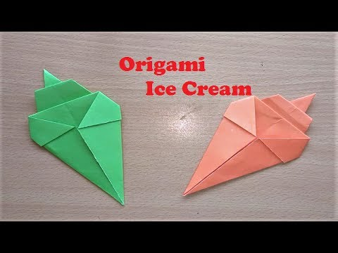Origami Ice Cream Cone Tutorial - Making Origami Paper Ice Cream Cone