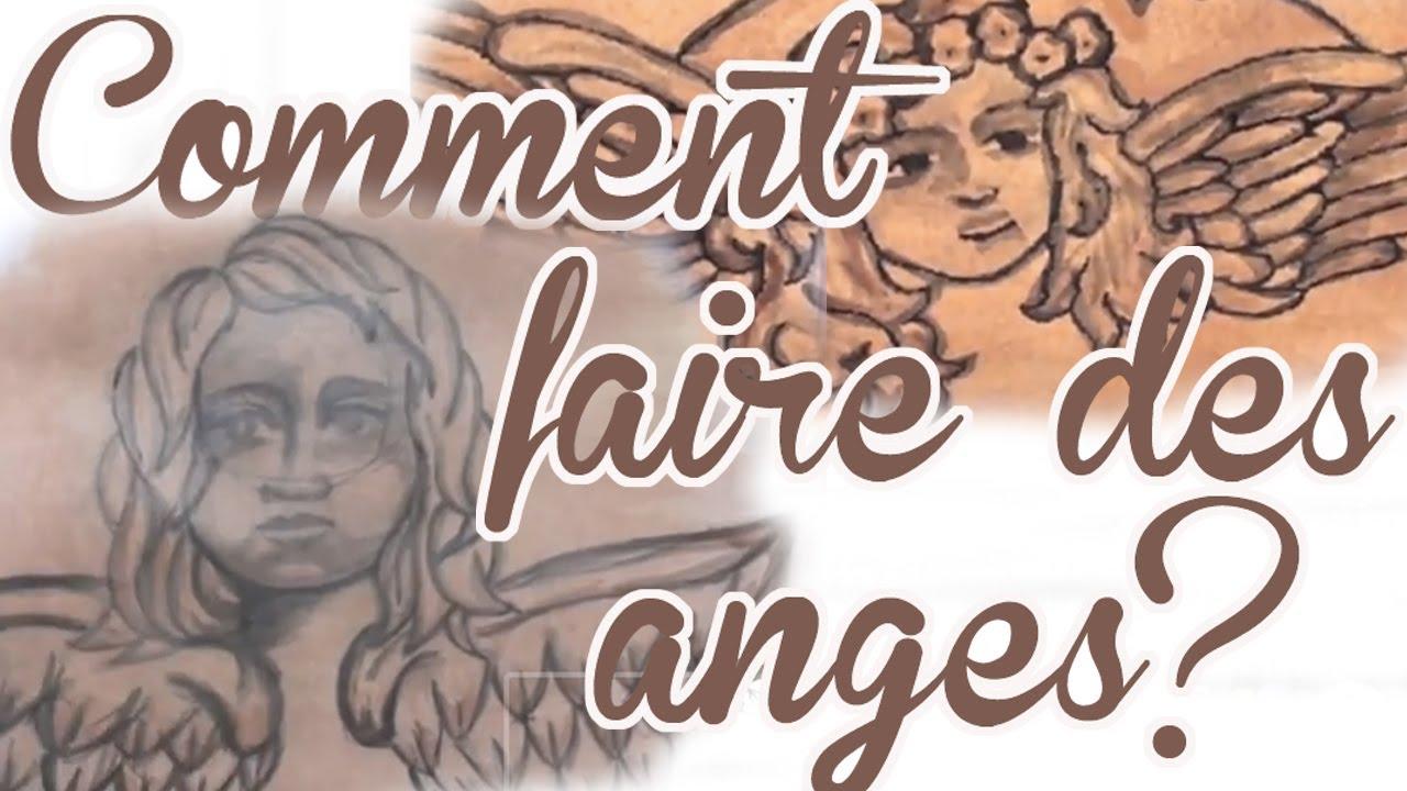Deux techniques pour r aliser des anges pour votre toile - Comment faire des toile d araignee pour halloween ...