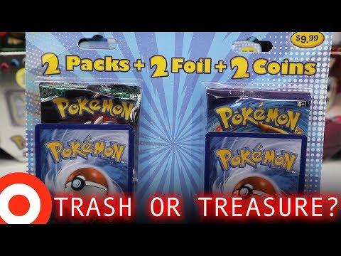 """Opening 4 """"2 Pack + 2 Foil + 2 Coins"""" Pokemon Blister Packs from Target ($9.99)"""