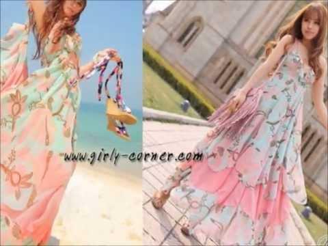 Maxi Dress แม็กซี่เดรส เดรสยาวไปทะเล แฟชั่นใหม่ล่าสุด แบบสวยๆต้อนรับ Summer
