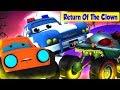 Return Of The Clown | Road Ranger cartoons Videos For Kids by Super Kids Network