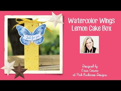 Watercolor Wings Lemon Cake Box