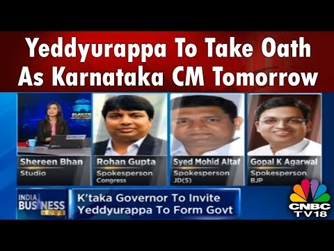 yeddyurappa-to-take-oath-as-karnataka-cm-tomorrow-|-cnbc-tv18