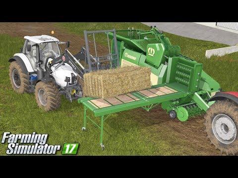 Pelet z kostek - Farming Simulator 17   [STRAW HARVEST #3]