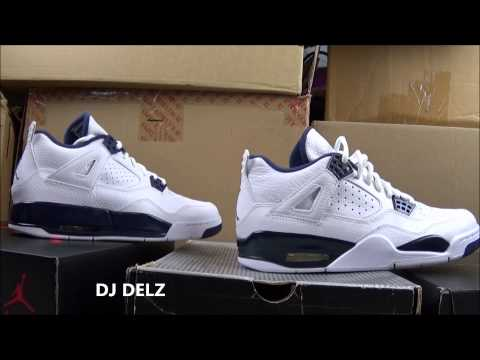 2015 Air Jordan 4 Legend Blue Grade School GS Review + Comparison With Men's Version With @DjDelz