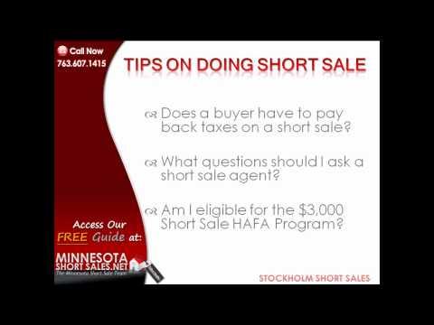 Stockholm Short Sale Tips | The Minnesota Short Sale Team