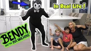 Download Bendy and the Ink Machine In Real Life Kids Skit | DavidsTV Mp3 and Videos