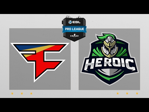 CS:GO - FaZe vs. Heroic [Overpass] Map 1 - ESL Pro League Season 5 - EU Matchday 2