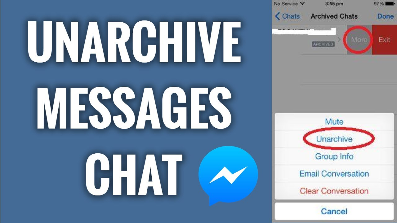 How To Unarchive Messages Chat On Facebook Messenger In 30