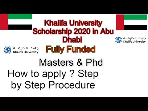 Khalifa University Scholarship 2020 in Abu Dhabi Fully Funded