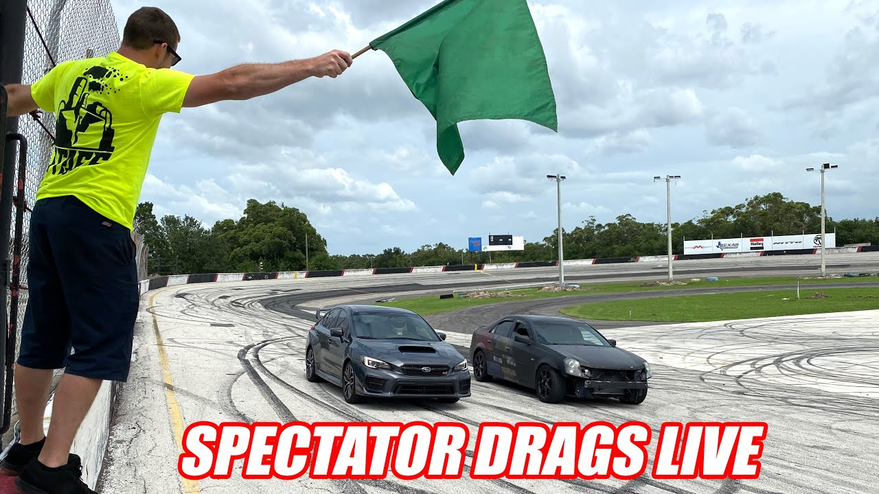 1st Ever Spectator Drags at Freedom Factory LIVE (we came up with this last night lol)
