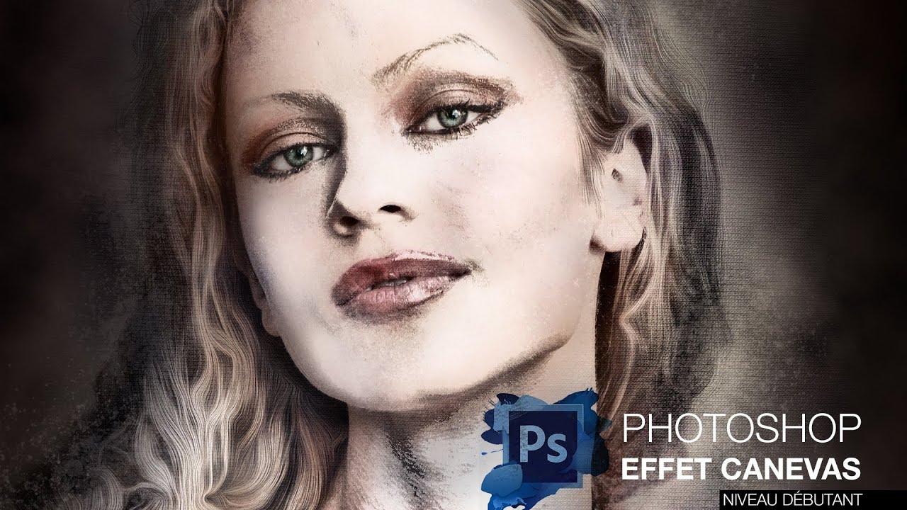 Tuto cr er un effet de peinture sur vos portraits avec photoshop youtube - Photo effet peinture ...