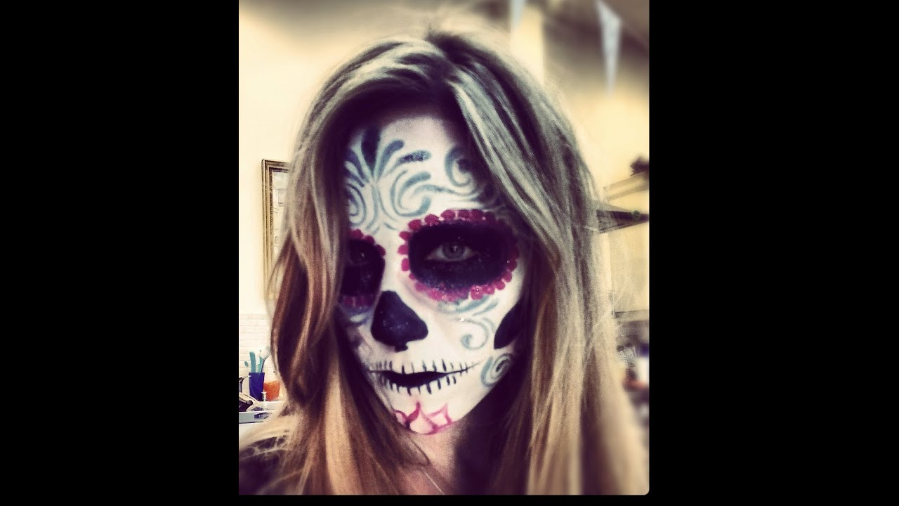Sugar Skull Makeup Tutorial Day Dead Dia Los