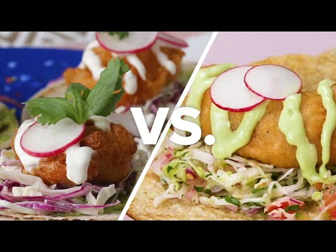 Crispy Beer Battered Fish Tacos Vs. Shrimp Tacos