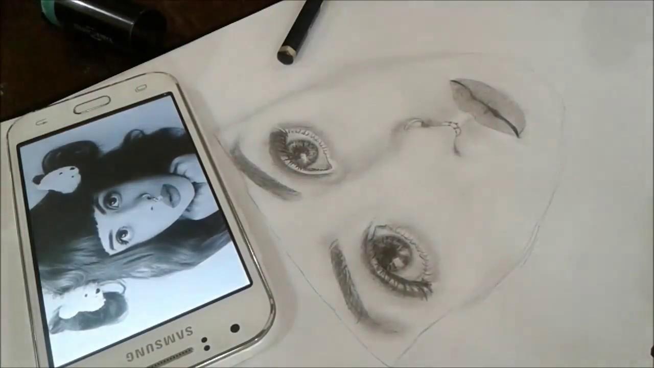 How To Draw Melanie Martinez Beginner L Bahasa By Tia Nur