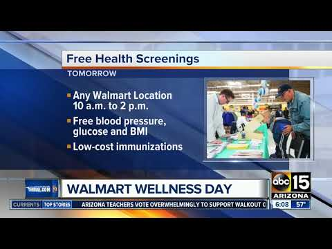 Walmart offering free health screenings on Saturday