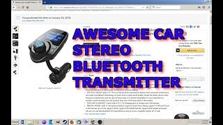 Car Stereo Bluetooth Transmitter - Drunkilk Wireless T-10