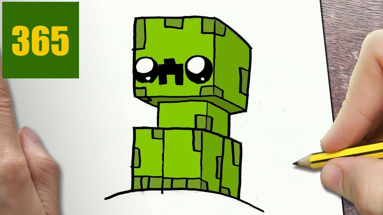 come disegnare creeper minecraft kawaii passo dopo passo