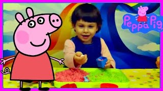 Кинетический песок цветной с формочками    Kinetic color sand Play