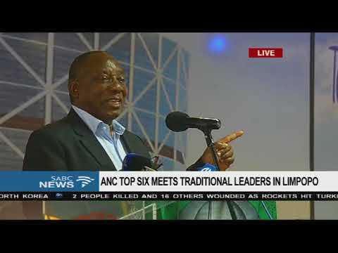 Ramaphosa addresses traditional leaders in Limpopo