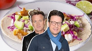 Gordon Ramsay Vs. Jamie Oliver: Who Has The Best Taco Recipe? | Celebrity Snackdown | Delish
