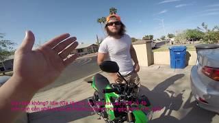 MVlog 50: Bán xe moto Kawasaki Z1000 - 875 cho 2 mẹ con người Mỹ-Full Vietsub