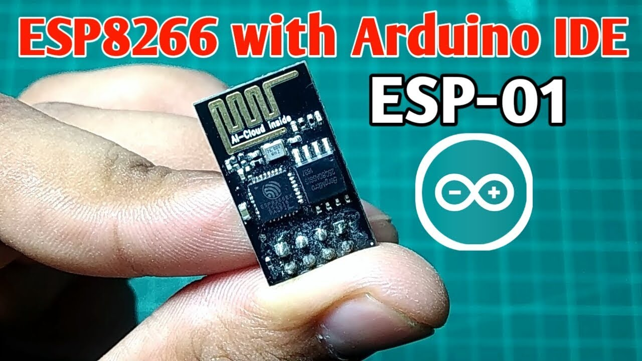 Getting Started with ESP 8266 ESP 01 with Arduino IDE | Programming esp-01  with Arduino ide