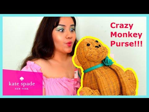 Kate Spade 2020 Novelty Purse Review: Georgia Wicker Monkey Bag