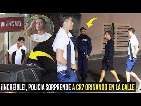 ¡DE NO CREER! CR7 FUE SORPRENDIDO ORINANDO EN LA CALLE Y ASÍ REACCIONÓ EL POLICÍA