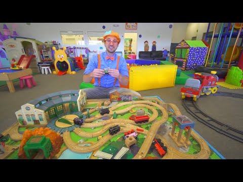 Blippi Indor Playground   More Cars And Toys