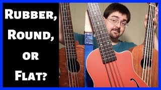 Kala U-Bass Flatwound vs. Roundwound vs. Rubber Strings Comparison