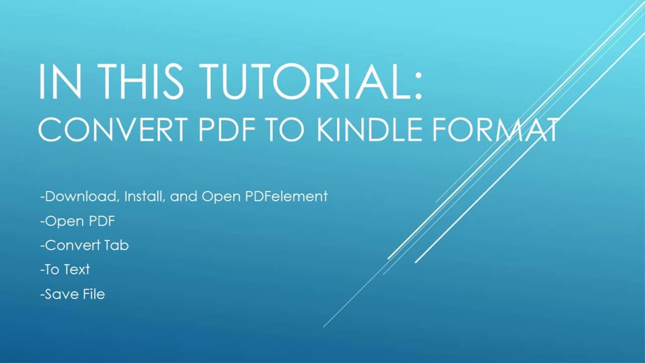 How To Pdf File Into Kindle