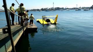 Turbine boat starting up in San Diego