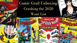 Comic Grail Unboxing:  Crushing the 2020 Want List!!!