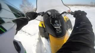 Тикси 250 по глубокому снегу