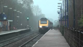 (HD) A First Great Western Class 43 HST set passes north through Denham Golf Club on diversion